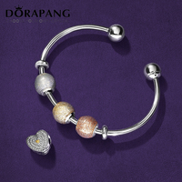 Dorapang 100% 925 فضة سحر الخرز الكلاسيكية الحساسة الذكية كيت صالح سوار diy سوار عاشق هدية مصنع بالجملة