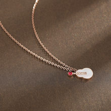 Stainless Steel Shell Guitar Necklace For Women 2019 New Fashion Jewelry Short Necklaces & Pendants Rose Gold Color(China)