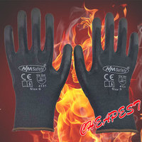 Nmsafety 12 pairs lightness comfortable black polyester nylon work safety gloves electrician safety gloves.jpg 200x200