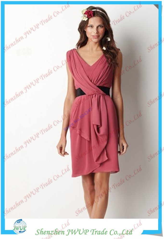 Free Shipping By DHL Vogue Coral Chiffon Size 16 22 Evening Dresses ...