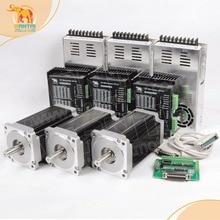 3 assi Nema34 Wantai Stepper Motor 1090OZ In, 5.6A, 85BYGH450D 008 & Driver DQ860MA, 7.8A & Alimentazione CNC Incisione