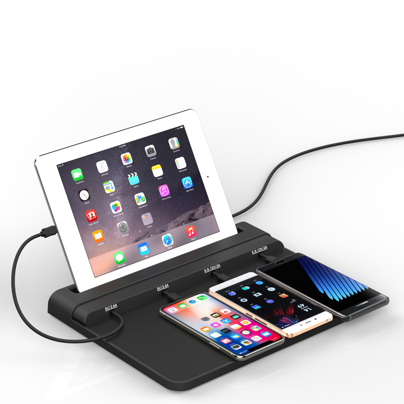 Caricabatteria da tavolo, telefono mobile di ricarica pad, stazione di ricarica del telefono mobile universale - 3