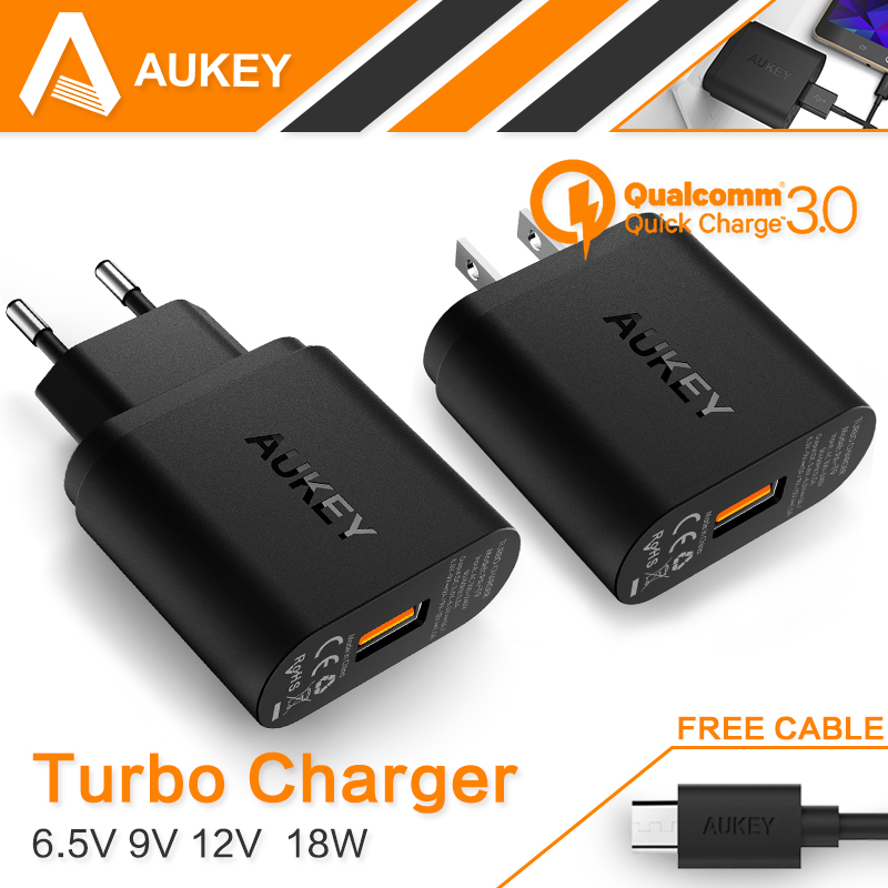 For Qualcomm Certified AUKEY Quick Charge 3 0 Smart USB Wall Charger For Samsung Galaxy S6