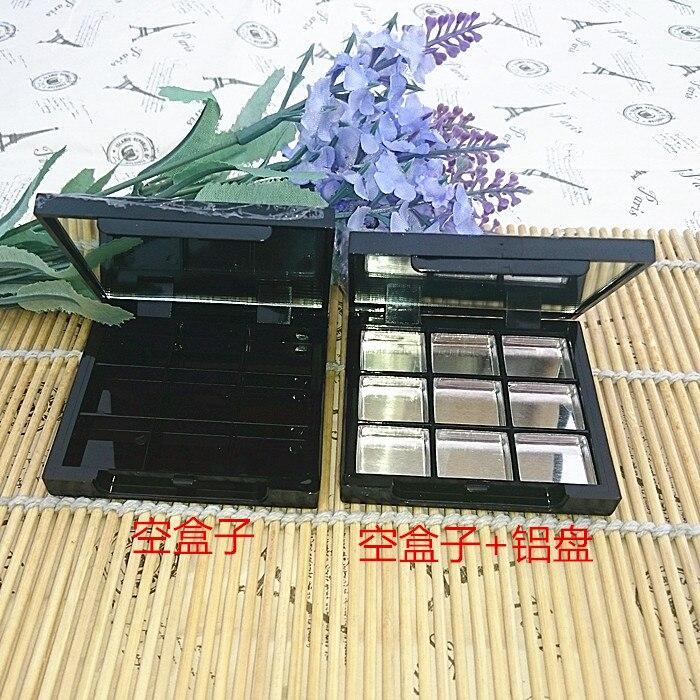 ФОТО free shipping black rectangle eye shadow/blusher/face cream packing box ( aluminum plate)