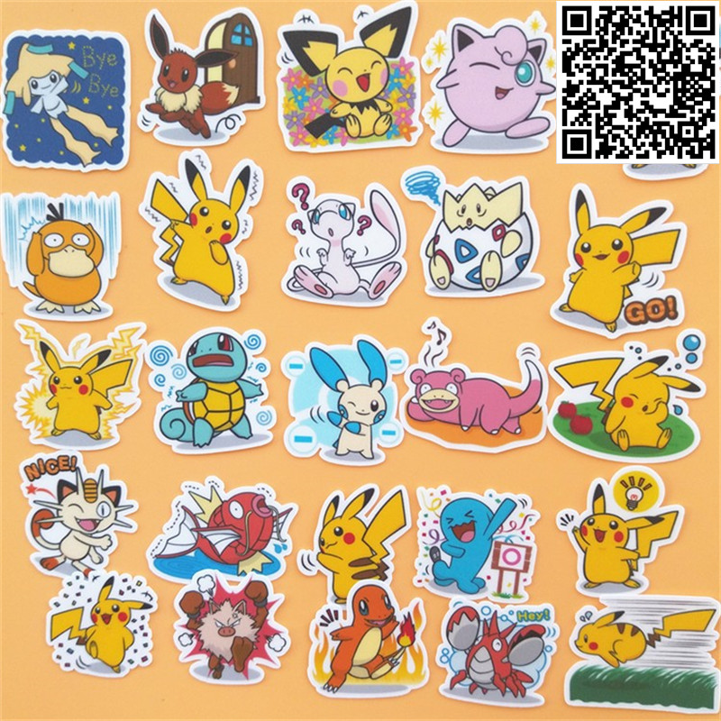 40 Pcs Various Pokemons Sticker For Luggage Skateboard Phone Laptop Moto Bicycle Wall Guitar/Eason Stickers/DIY Scrapbooking