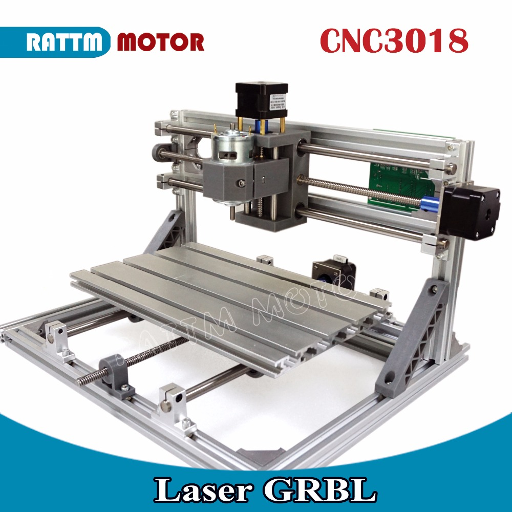 EU Ship! CNC 3018 GRBL control DIY Laser machine working area 30x18x4.5cm,3 Axis Pcb Pvc Milling machine Carving Engraver,v2.5 cnc 1610 grbl control diy mini cnc machine working area 16x10x4 5cm 3 axis pcb milling machine wood router cnc router v2 4