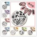1 Unid Clavo Que Estampa la Plantilla de Navidad Flor Diseño Animal 5.5 cm Ronda Manicura Nail Art Stamping Placa de la Imagen 01-27