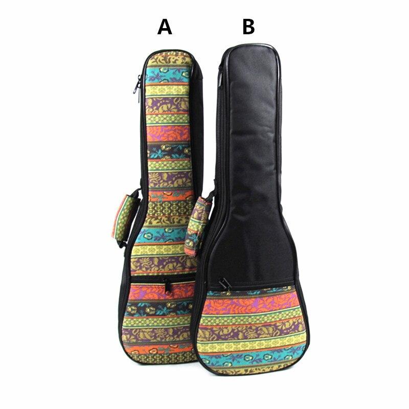 ZONAEL 21 23 26 Inch Ukulele Bag Backpack Small Portable Guitar Shoulder Gig Bag Folk Style Ukelele Case Guitar Accessories