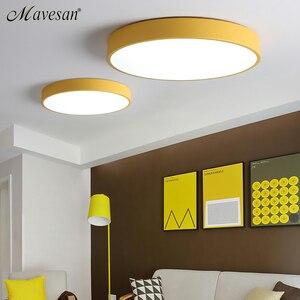Image 5 - Luces de techo LED de estilo nórdico modernas para dormitorio, mando a distancia para 8 20 metros cuadrados, accesorio de iluminación
