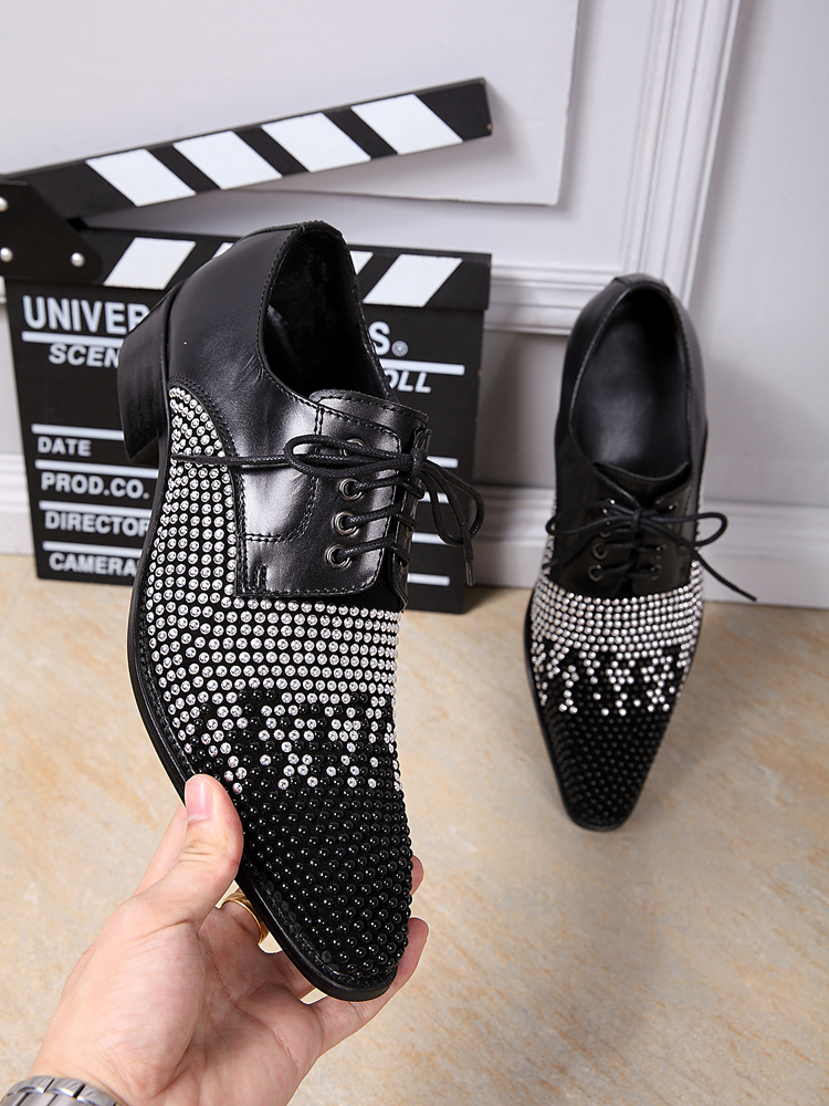19096353d05 Moda La Comercio Diamante Casuales Exterior Negro Británico vino Primavera  Transpirable Zapatos Tinto Otoño Cuero Los De Personalidad Y Hombres Nueva  YPwq5F