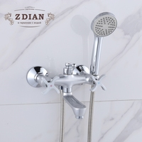 Wall Mounted Rain Shower Chrome Pearl silver Polished Shower Tap Bath Shower Faucet Set Bathtub Faucet With Hand Shower