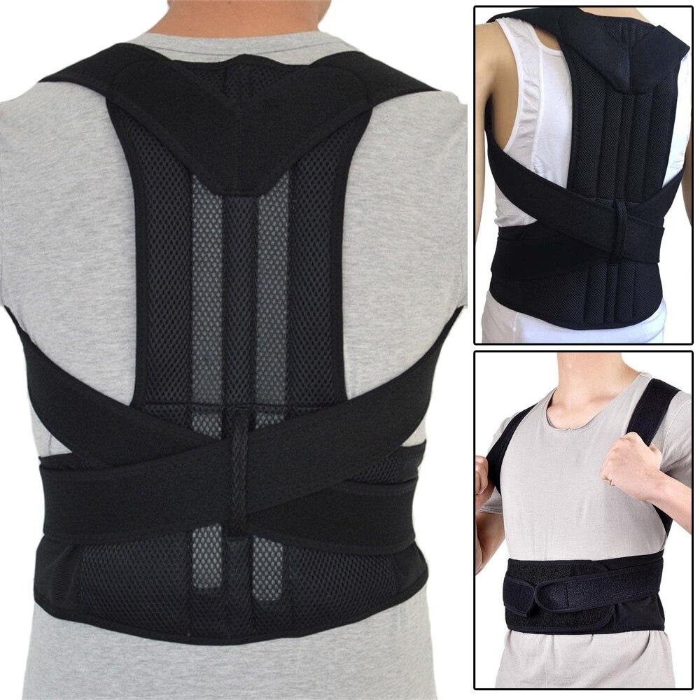 Neoprene Breathable Steel Plate Corset Braces&Supports Orthopedic Posture Corrector Correction Brace Shoulder Back Support Belts