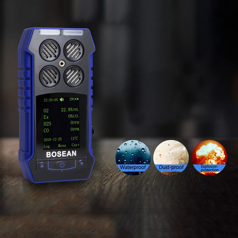 BH-4S 4 In 1Air Quality Monitor Gas Analyzer Air Tester Portable Compound Gas Detector O2 EX CO Air Quality Monitor