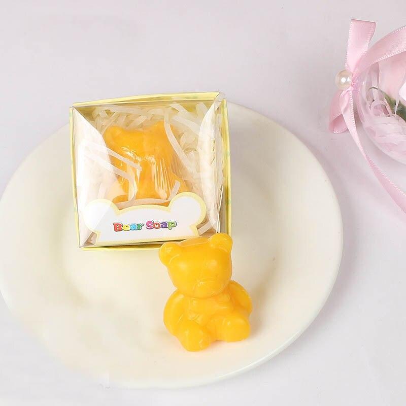 20 шт./лот мини-мыло ручной работы с ароматом для сувенир для свадебной вечеринки и детского душа подарок Свадебные сувениры Мыло для купания - Цвет: yellow bear