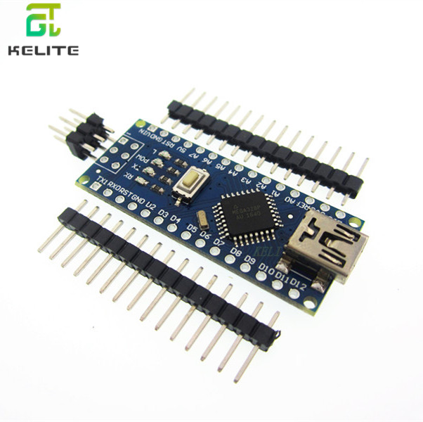 new 20PCS Nano 3.0 Controller Board Compatible with  Nano CH340 USB Driver NO USB-in Integrated Circuits from Electronic Components & Supplies
