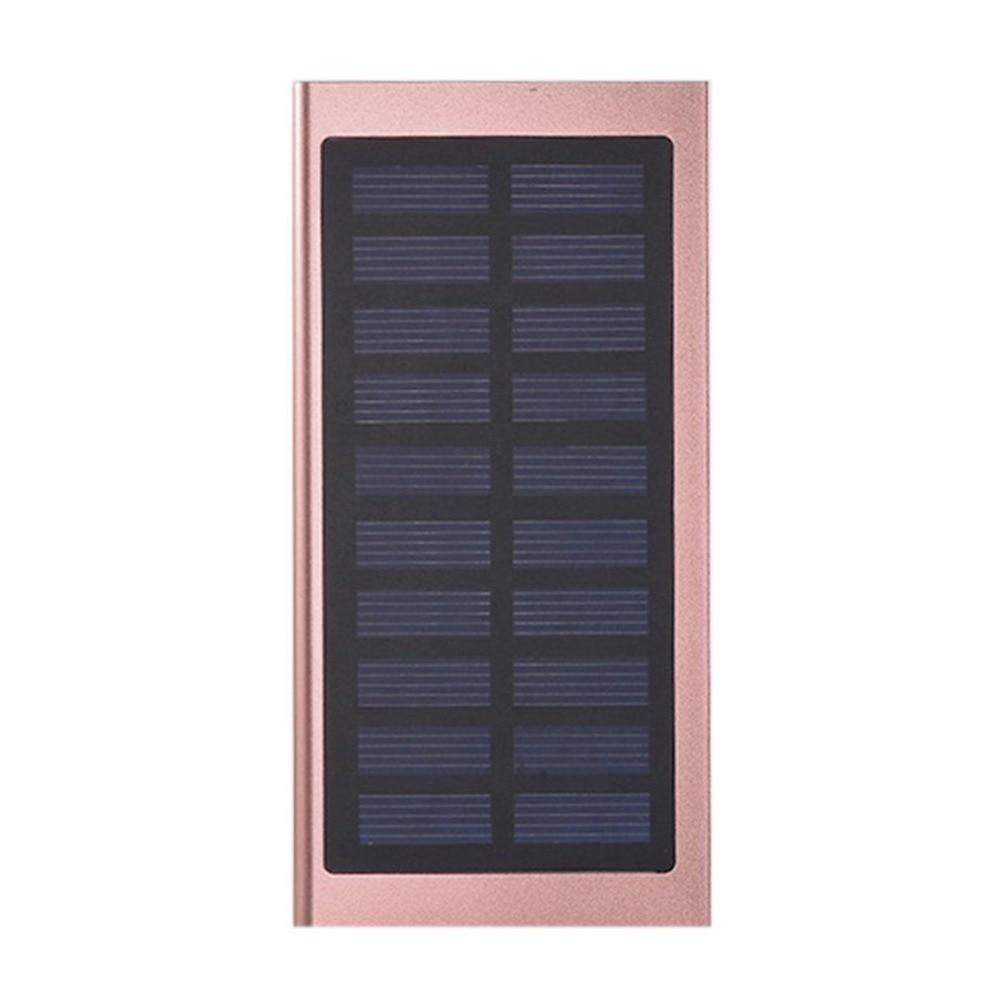 Wopow Solar Power Bank 20000mah Portable Fast Charging Powerbank for iPhone Huawei LG Xiaomi External Battery Charger Poverbank