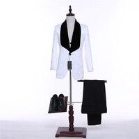 Новый стиль шалевыми лацканами жениха дружки платье красный/белый/черный Для мужчин; Нарядные Костюмы для свадьбы Best человек блейзер (пальт