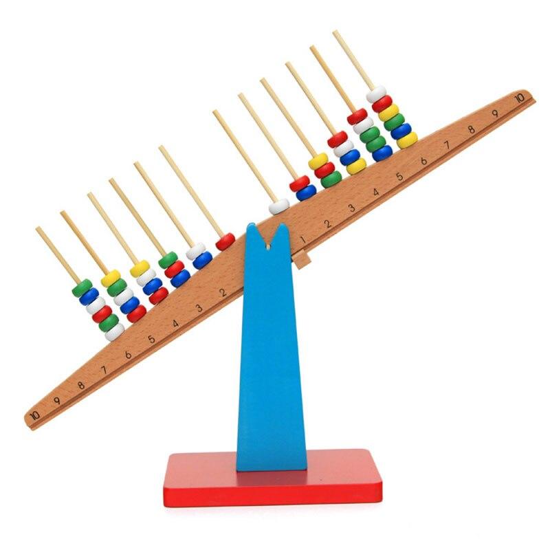 Balance en bois Montessori pour bébé avec perles jouets éducatifs préscolaires Juguetes Montessori ME2344H