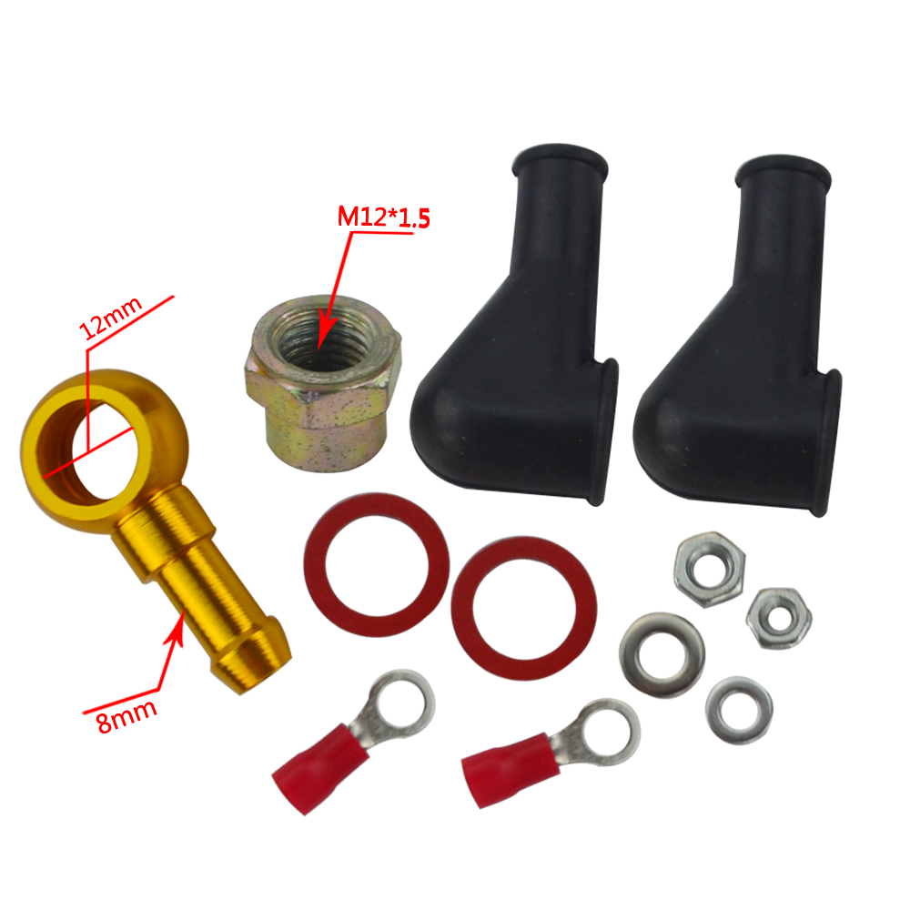 VR RACING - 044 BAHAN BAKAR BANJO FITTING KIT HOSE ADAPTER UNION 8 MM - Suku cadang mobil - Foto 2