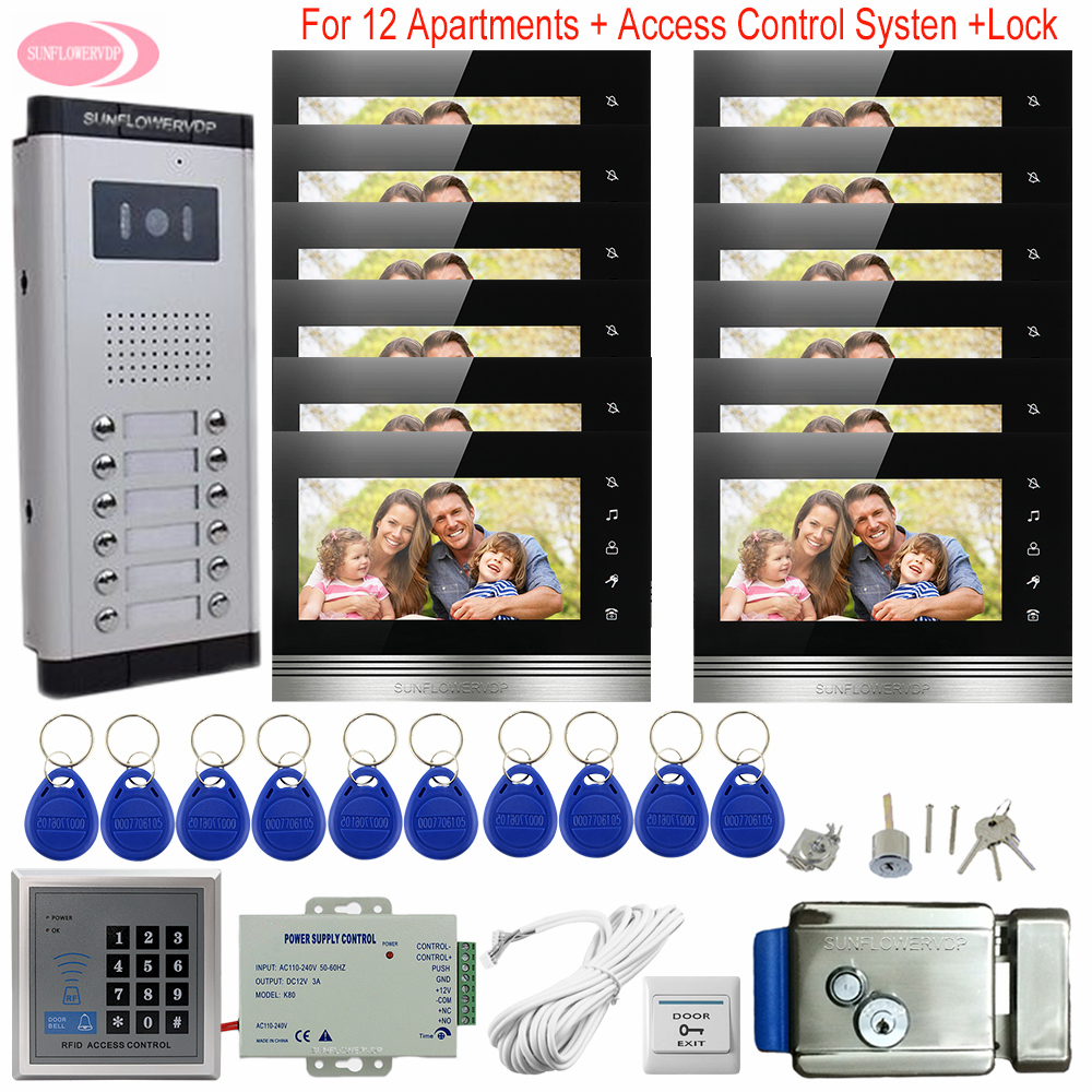 For 12 Apartments Access Control System Intercoms For Private Homes 7