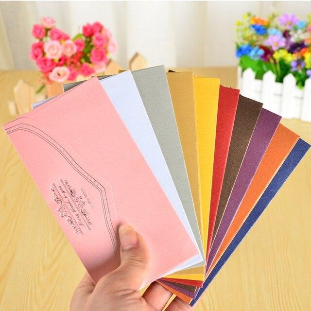 5 Pçsset Pérola Envelopes De Papel Para Convites De Casamento