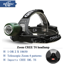 hot 3000 lumens zoom cree xm l T6 headlamp headlight led rechargeable 18650 torch head flashlight lamp light