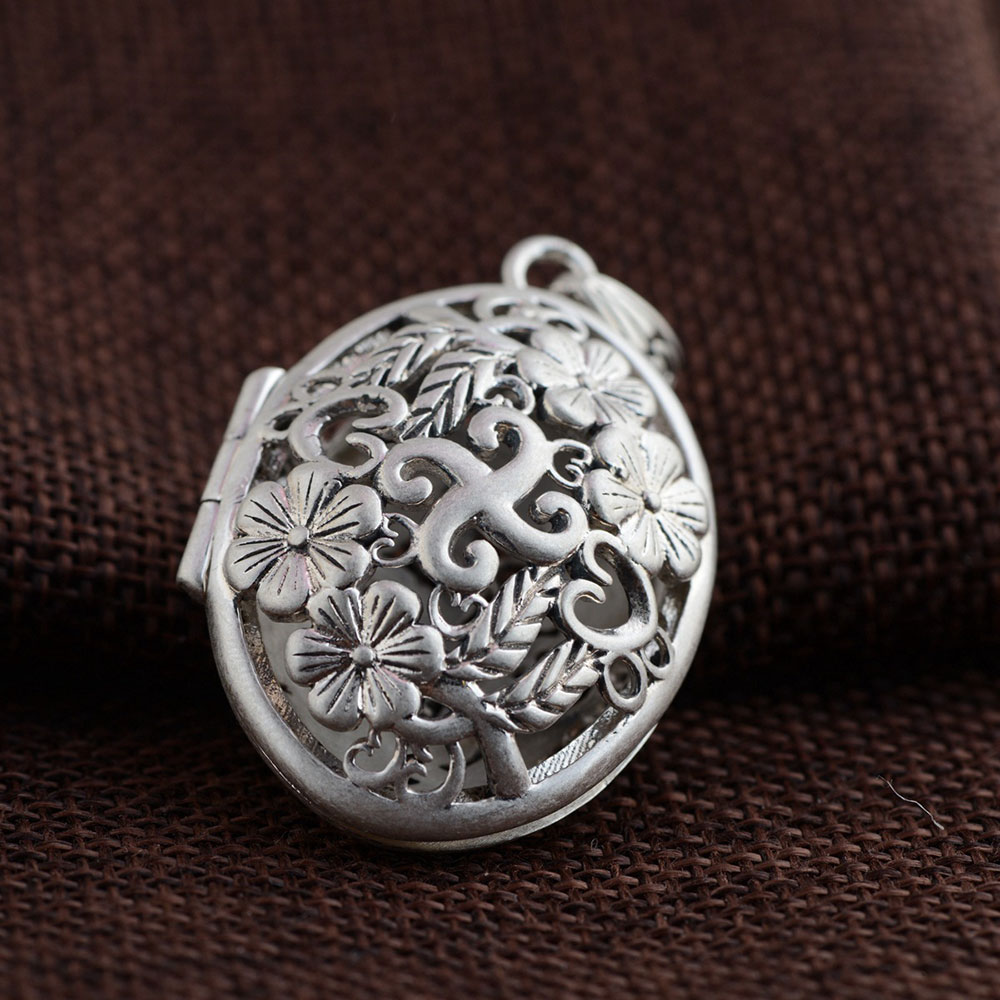 FNJ 925 Silver Flower Pendant New Fashion Luck Gawu Box 100% Pure S925 Solid Thai Silver Pendants for Women Men Jewelry Making соусник elan gallery белый 350 мл