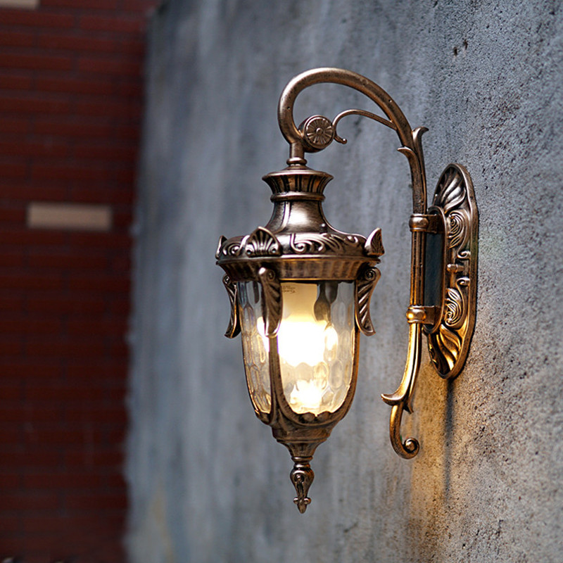 Retro European waterproof wall lamp E27 Home Restaurant corridor courtyard lamp Garden light indoor/outdoor lighting ...
