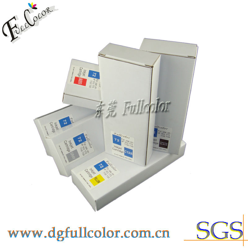 ФОТО Refillable Desginjet T1100 Printer Compatible HP72 Ink Cartridge With Permanent Chip & Inks