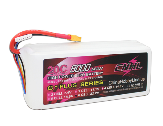 CNHL G+PLUS LI-PO 8000mAh 22.2V 20C(Max 40C) 6S Lipo Battery Pack for Multi-Rotor with free shipping аккумулятор d minamoto r20 8000 mah nimh 2 штуки