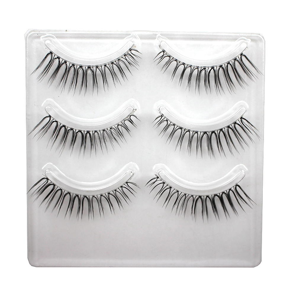 2 Pairs 3d Fiber Hand Made Black Fake Eyelashes Natural Crisscross Long Extension False Eyelashes For Makeup Beauty Stage Makeup To Reduce Body Weight And Prolong Life Beauty & Health