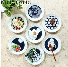 Japanese classical procelain charger plate under Glazed color ceramic plate steak dish tableware 8 inch dinner plate  sc 1 st  AliExpress.com & Buy charger plates and get free shipping on AliExpress.com