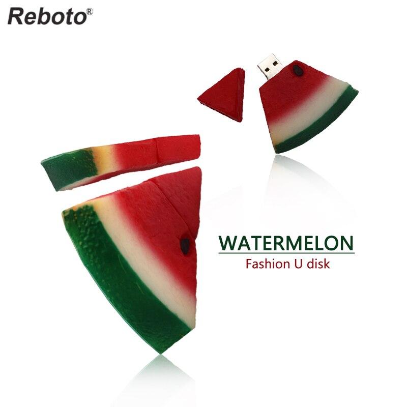 Pendrive Watermelon usb flash drive 8GB 16GB 32GB 64GB USB 2.0 Flash Pen Drive Memory Disk U Stick free shipping