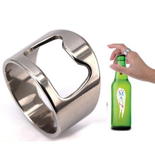RE Creative stainless steel beer openers finger ring ring-shape bottle opener P40