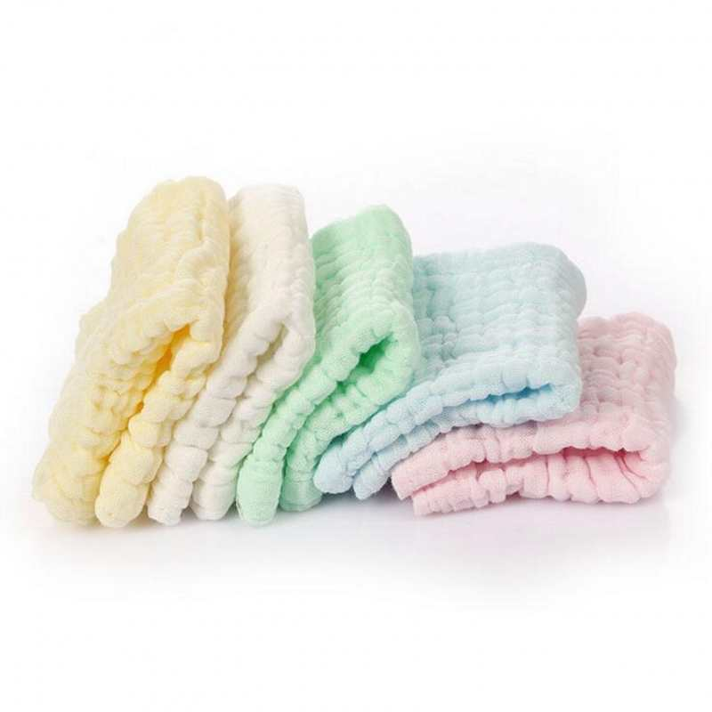 5 Pcs/Lot Baby Bath Towel Cotton Gauze Baby Towel Newborn Cotton Towel Cartoon Kids Towel AbsorbingTowels Soft Washcloth 25*25cm