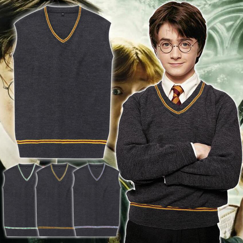 V Neck Sweater  Sweater Gryffindor Daily Clothes for Harri Potter Cosplay