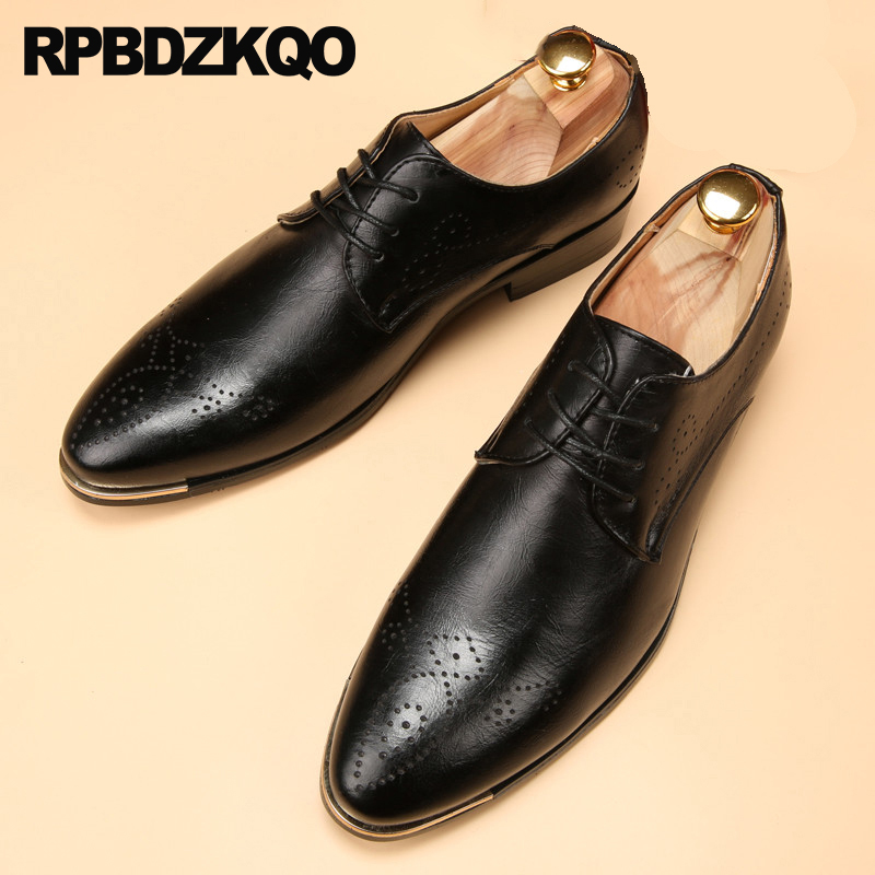 Loyal Men Black Rivet Dress Italian Shoes Slip On Men Mesh Leather Moccasin Glitter Formal Male Shoes Pointed Toe Shoes For Men New Varieties Are Introduced One After Another Men's Shoes Shoes