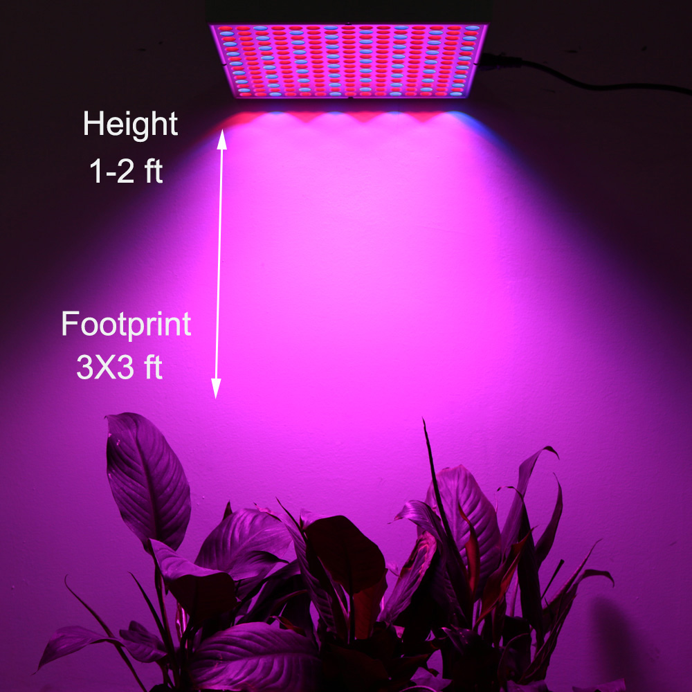 45W Phyto Lamp Panel Lamp for Hydroponics Indoor Flower Vegetable Plant with 225 LEDs Full Spectrum Led Grow Light SMD 2835 phyto lamp full spectrum 300w 50w 45w 10w 5w led grow light growth lamp for flower plant veg hydroponics system grow bloom