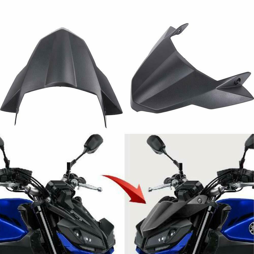 Motorcycle Black Fly Screen Beak Cowl Protector Cover For Yamaha MT09 FZ09 MT 09  FZ 09 MT-09 FZ-09 2017 2018 2019