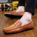 DreamShining Fashion Casual Shoes Leather Loafers Slip On Sport Driving Boats Shoes Fashion Breathable Moccasins Flats