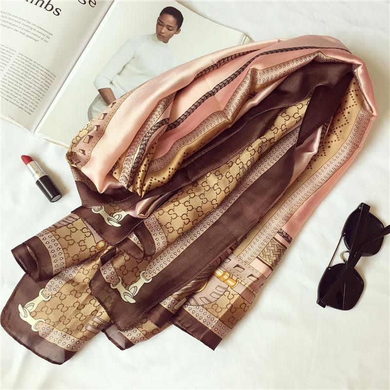 Wholesale Summer Women Scarf Quality Winter And Autumn Silk Scarf Print Shawls Wrap Long Female Pashmina Ladies Beach Stoles
