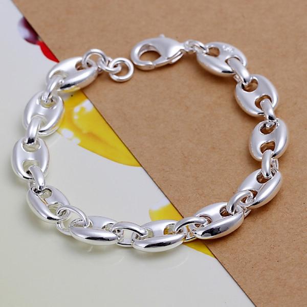 wholesale 925 sterling silver bracelet,925 silver fashion jewelry charm bracelet chain Bracelet for women/men SB133