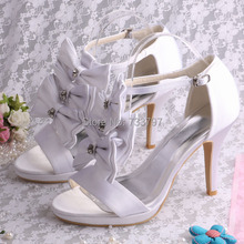 (20สี)ที่กำหนดเองที่ทำด้วยมือสายรัดหัวเข็มขัดรองเท้าแตะผีเสื้อแต่งงานรองเท้าเจ้าสาวเจ้าหญิงปั๊ม