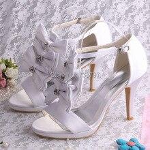 20 Colors Custom Handmade Buckle Strap Sandals Butterfly Wedding Bridal Shoes Princess Pumps