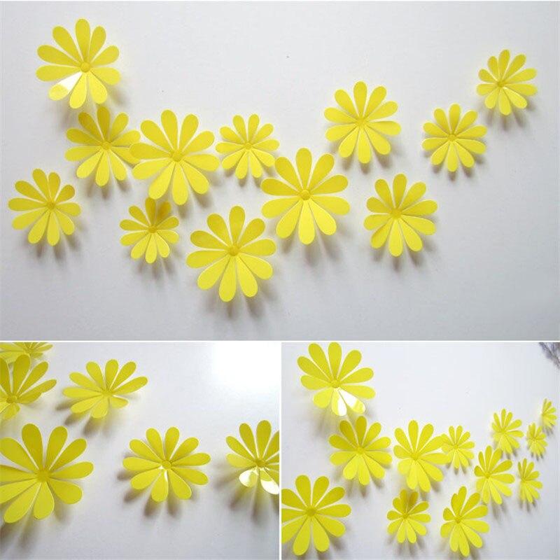 DIY 3D Three dimensional Crystal Mirror Wall Stickers TV Backdrop ...