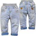3851 baby jeans BOY baby BOYS  jeans light blue spring casual pants  new kids jeans trousers not fade soft denim FASHION