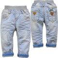 3851 pantalones vaqueros del bebé bebé NIÑOS jeans luz azul de primavera pantalones vaqueros nuevos niños ocasional pantalones no se desvanecen de mezclilla suave MODA