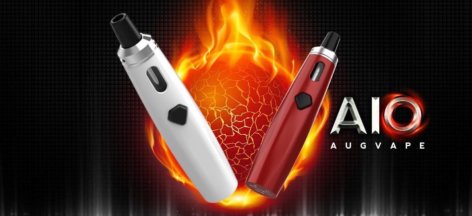 , Augvape AIO Electronic Cigarette Kits Vape Pen Built-in 1500mAh 30W 0.6ohm Single Coil With LED Indicator Electronic Cigarette