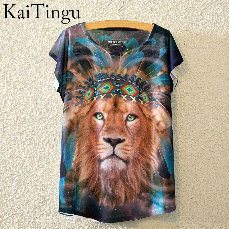 HTB1pFpPLpXXXXb1XFXXq6xXFXXXg - New Fashion Summer Animal Cat Print Shirt O-Neck Short Sleeve T Shirt