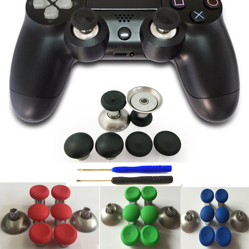 8pcs Enhanced Swap Metal Magnetic Thumbstick Joystick Thumb Stick Grip Caps For Xbox One elite Controller Sony PS4 Playstation 4